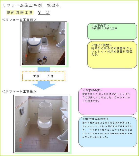 トイレ交換 和式を洋式へ変更